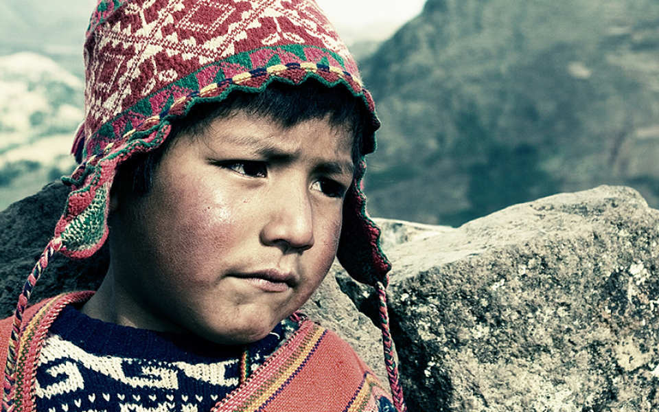 Boy at Incan ruins (2005)