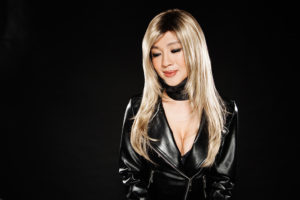 A glamour portrait of Chinese Malay music star, Jessie Chung