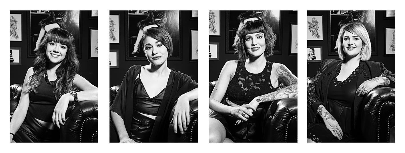B&B Hair Salon Gold Coast staff portraits by Paul Williams Photography Gold Coast & Brisbane