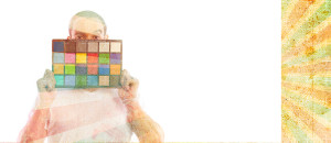 A white balance colour checker card for pro photography