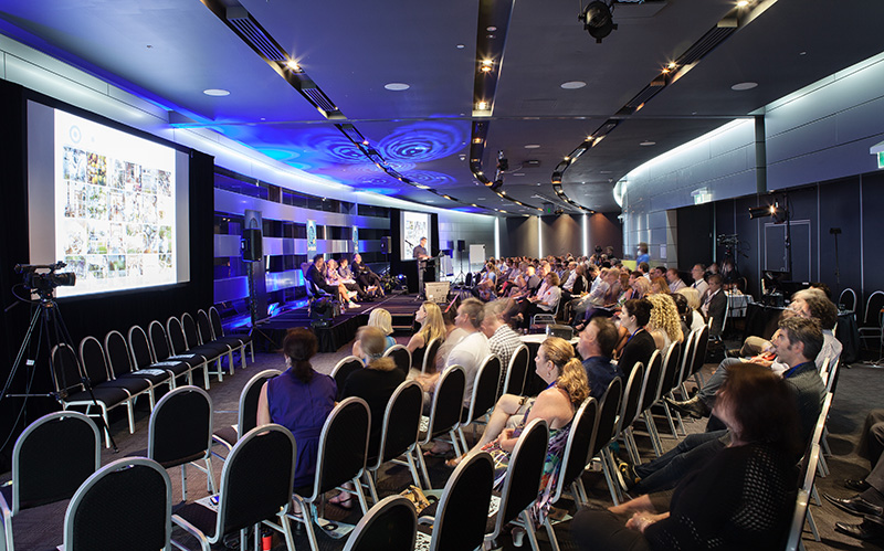 Symposium participants at the Big Blue Sky event 2015 at Q1 on the Gold Coast