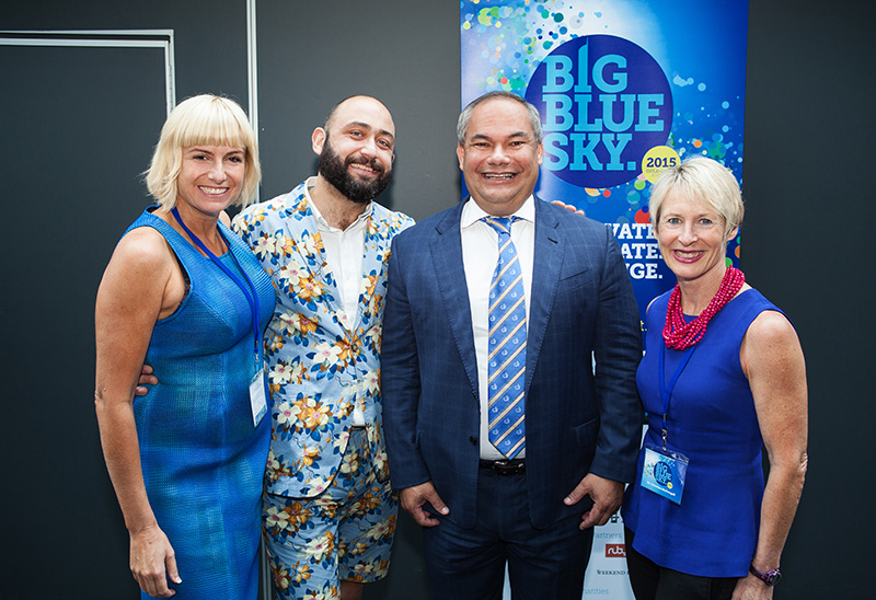Gold Coast Mayor Tom Tate (2nd from right) with Big Blue Sky Co-founder Lou McGregor, British entrepreneur Matt Desmier and Co-founder Christine McDougall.